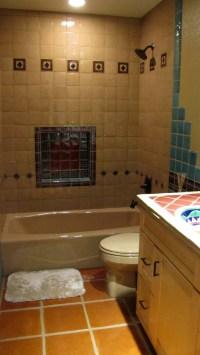 saltillo tile bathroom