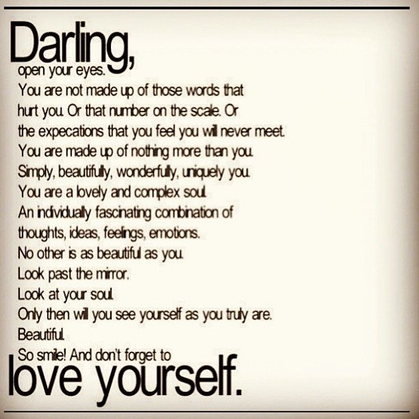 Love yourself! @brittany valania <3
