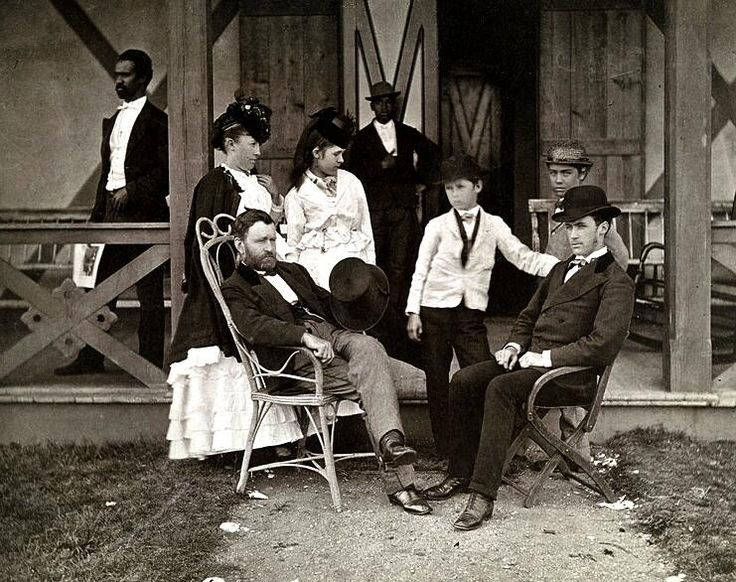 Ulysses Grant & his family, 1870.