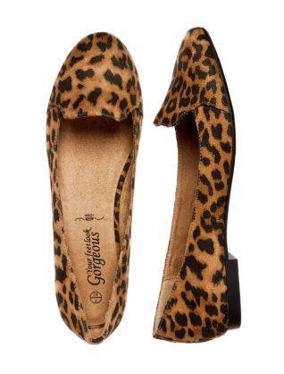 leopard print slipper flats size 5