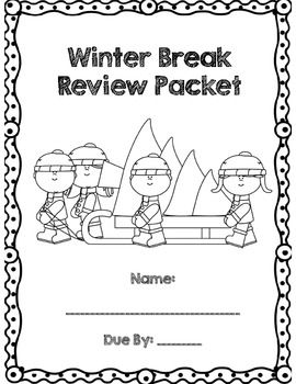 First Grade Winter Break Review Packet *Common Core Aligned