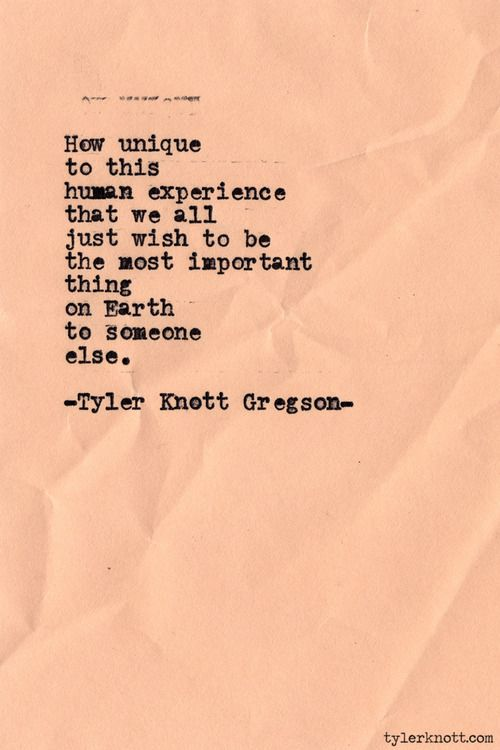 Typewriter Series #444 by Tyler Knott Gregson