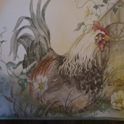 Wall Paper Borders For Kitchens Cheap Kitchen Rugs Rooster Wallpaper | Joy Studio Design Gallery ...