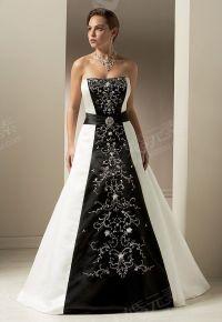 Black and White Wedding Dress | Dream Wedding | Pinterest