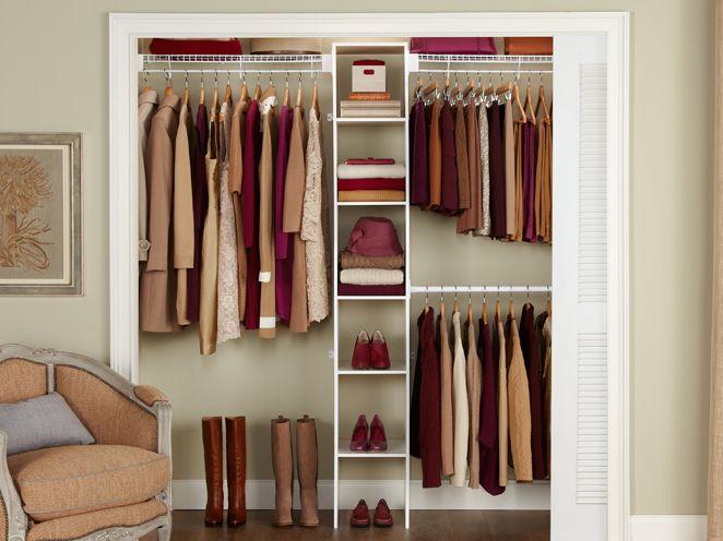 5-8' Closet Shelving Kit w/Laminate Tower   Closet Organization   Rubbermaid