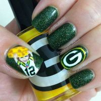Green Bay Packers Nails | Things I love | Pinterest