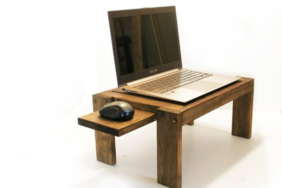 Bedside Laptop Table Wood Lap Desk Sofa Table End Table Laptop Stand ...