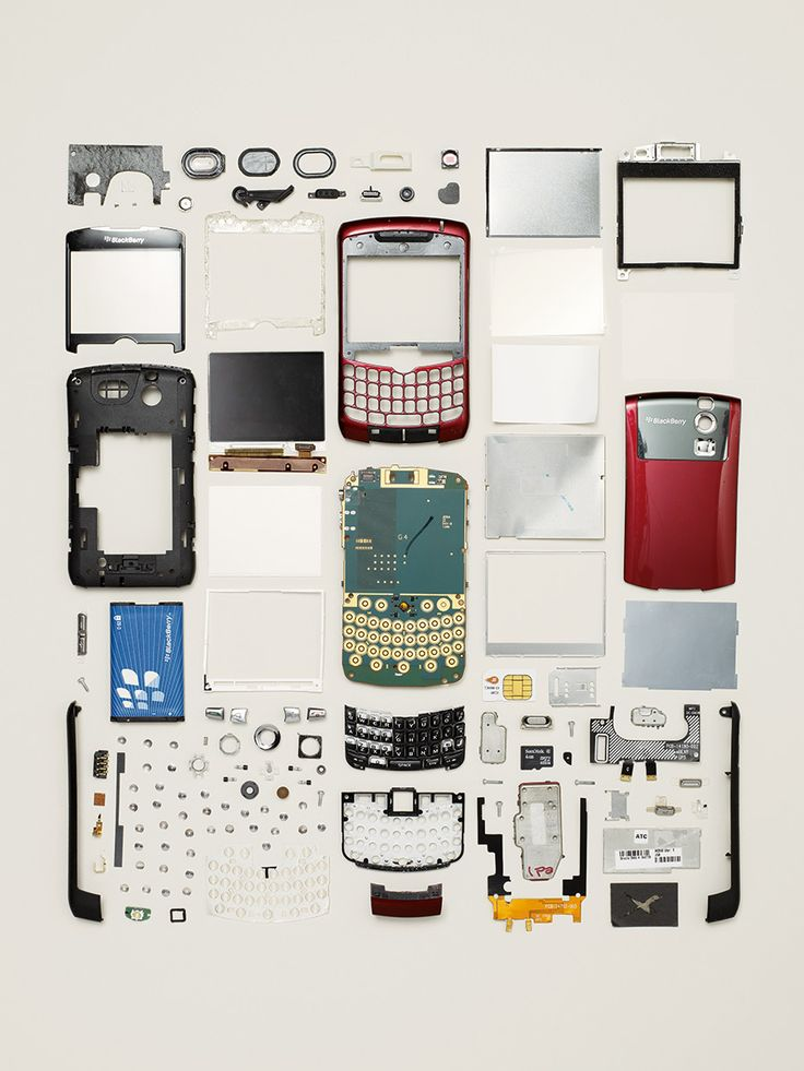 Smartphone, 2007; BlackBerry by Todd McLellan via this is colossal #Photography #Disassembly #Todd_McClellan