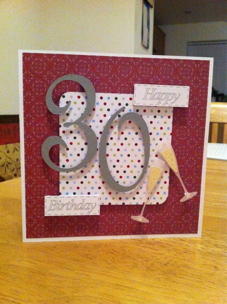 30th birthday card card ideas pinterest