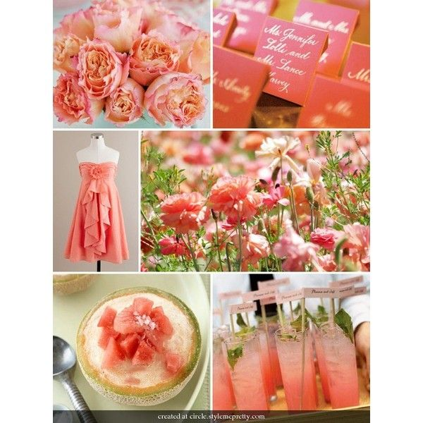 Color / Coral Wedding Decorations - Bing Images found on Polyvore