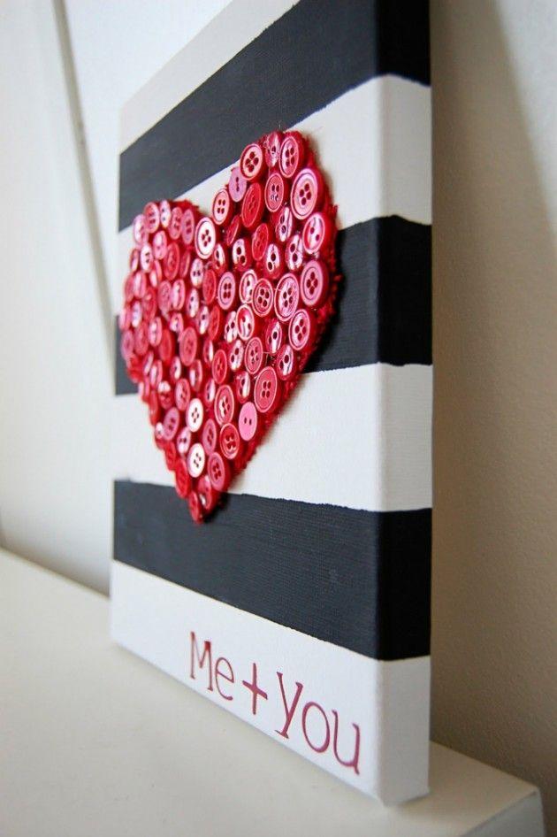 heart + buttons = art