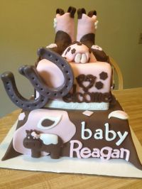 Cowgirl baby shower cake | baby shower | Pinterest
