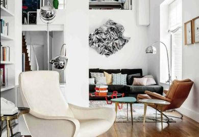 Mid Century Modern Eclectic Living Room
