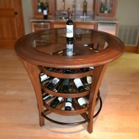 Bistro Bar Table Wine Rack | Things I like | Pinterest