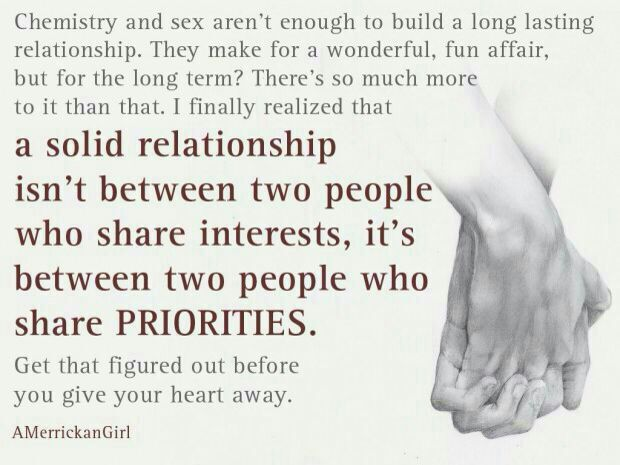Priority About Relationships Being Quotes