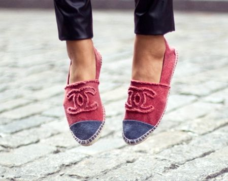 chanel espadrilles red