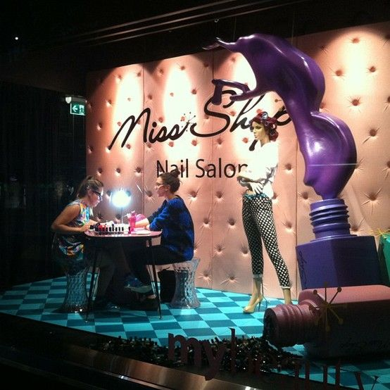 Want to be sitting here? Spend $20 or more on Miss Shop Cosmetics and have your nails painted in the Myer Melbourne windows FREE! Register at the cosmetics essentials counter next to the Benefit Brow Bar, conditions apply - ask a team member for more details #missshopnailart