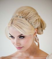 wedding hairstyles long hair headband