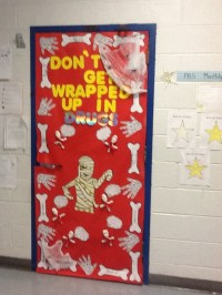 EWH Red Ribbon Door Decorating Contest | School | Pinterest