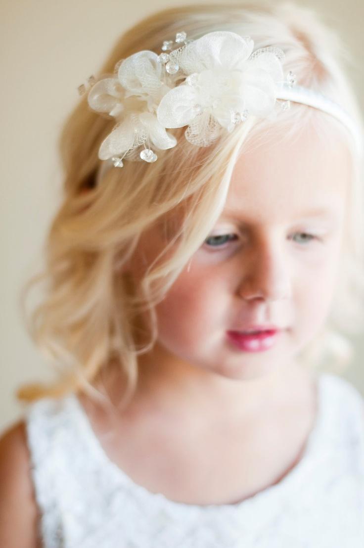 Flower Girl Hair Accessories Wedding Pinterest