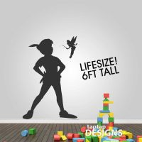 Peter Pan Shadow with Tinkerbell Wall Decal by ...