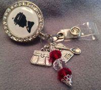 Disney Mary Poppins inspired ID badge reel, rhinestones ...