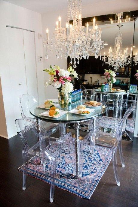 Glam Dining Room  Hollywood Glam Decor  Pinterest