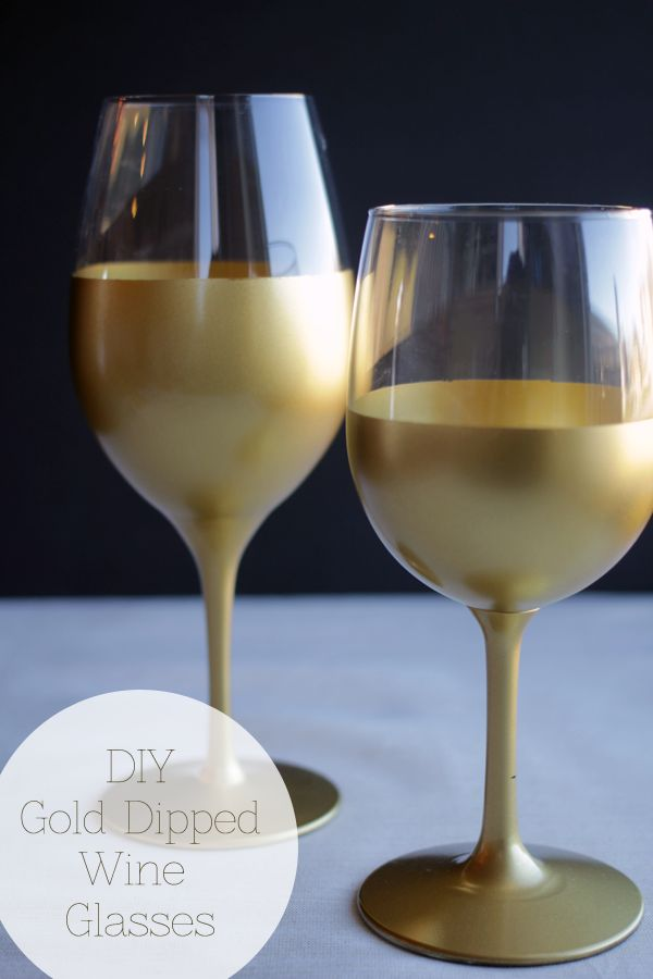 dipped wine glasses