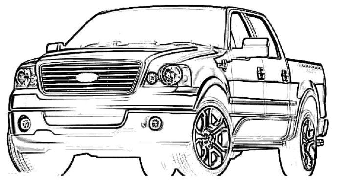 Ford F 150 Pickup Truck Coloring Pages