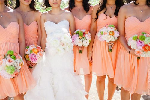 Peach bridesmaid dresses? What do you think @Jess Liu Darnell