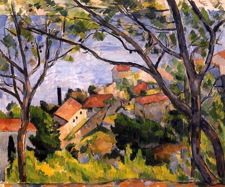 L'Estaque, View through the Trees - Paul Cezanne - 1878-1879