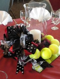 Cheerleading Banquet Table Decorations Photograph | Tennis c
