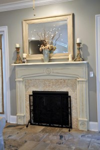 Painted Fireplace Mantel - beautiful! | Home | Pinterest