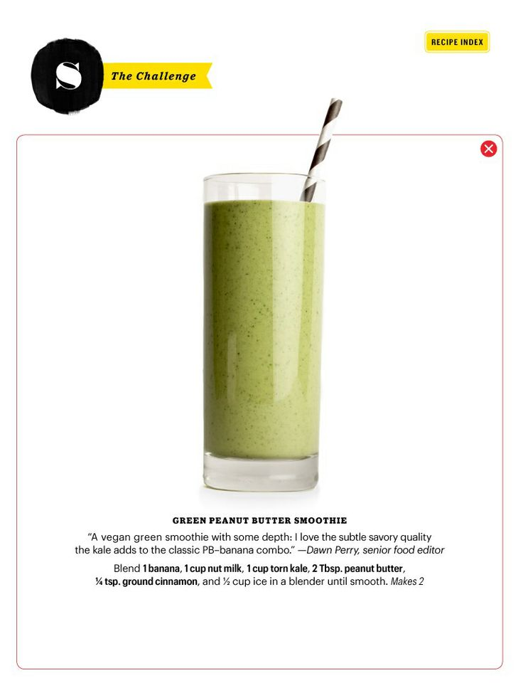 from bon appetit peanut butter banana and kale smoothie can i