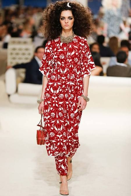 Chanel | Cruise/Resort 2015 Collection via Karl Lagerfeld | Modeled by Magda Laguinge | May 13, 2014; Dubai | Style.com