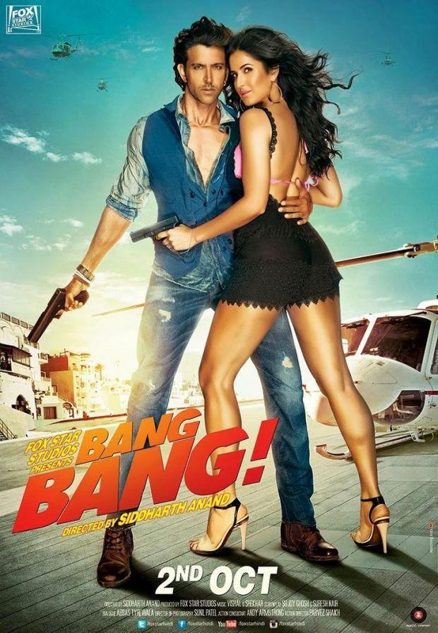 Katrina Kaif & Hrithik Roshan Bang Bang New Poster