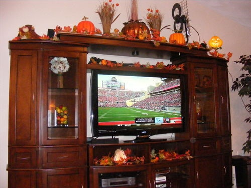 entertainment center decorating  My dream house  Pinterest