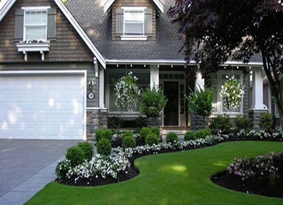 front yard garden design - curb