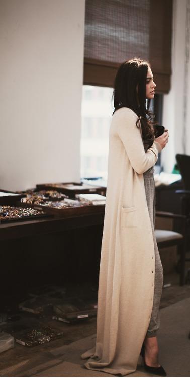 Floor Length Cardigan  I want  Pinterest