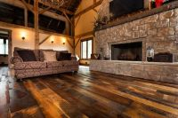 barn wood flooring | The House | Pinterest