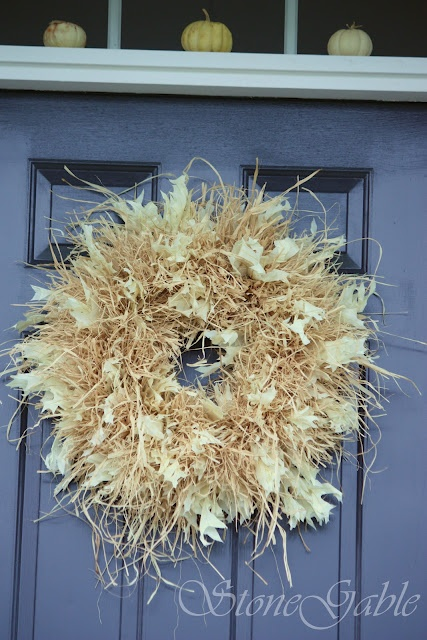 StoneGable: RAFFIA WREATH TUTORIAL....I am for sure making this for the fall!!!