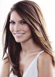 long layered side part hair