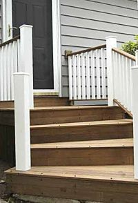 Wooden Front Steps | | House Ideas | Pinterest