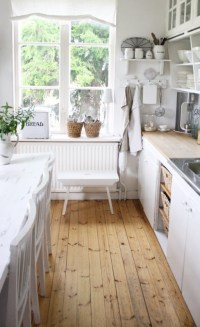 farmhouse kitchen wood flooring.