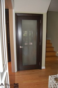 Interior Door: Frosted Glass Interior Bathroom Doors