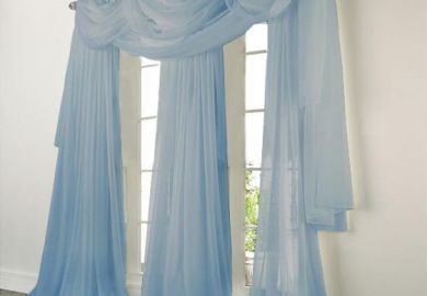 Blue Sheer Curtain