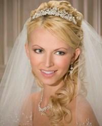 Tiara, veil, hair | Wedding | Pinterest