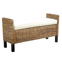 bed foot bench seagrass bench for foot of bed master ...