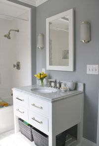 Gray & white bathroom | For the Home | Pinterest