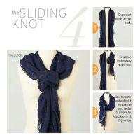Sliding Knot for scarves | Clever Ideas | Pinterest